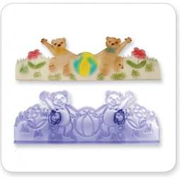 View the Teddy Border fondant icing gumpaste cutter online at Cake Stuff