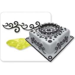 View the Scroll Swirls Border fondant icing cutter online at Cake Stuff