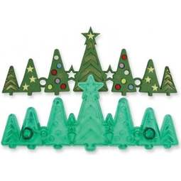 View the Christmas Tree Border Frieze fondant icing cutter set online at Cake Stuff