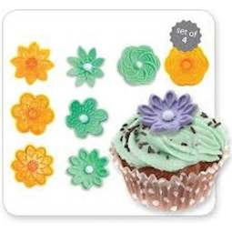 View the 4 pc set #2 Fantasy Cupcake Tops icing cutters online at Cake Stuff