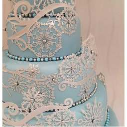 View the CRYSTAL snowflakes cake / edible lace silicone tool mat online at Cake Stuff