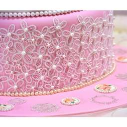 View the VICTORIANA cake / edible lace silicone tool mat online at Cake Stuff