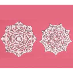 View the ALEXANDRA cake / edible lace silicone tool mat online at Cake Stuff