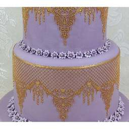 View the OPHELIA cake / edible lace silicone tool mat online at Cake Stuff