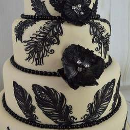 View the FEATHERS 3D cake / edible lace silicone tool mat online at Cake Stuff