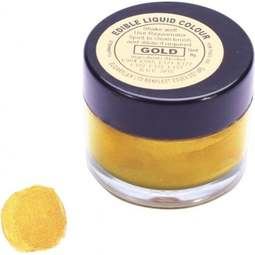 View the GOLD edible metallic liquid icing colouring paint online at Cake Stuff