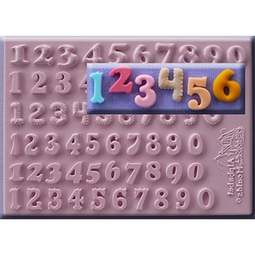View the **CLEARANCE** 6 STYLES 12mm NUMBERS / NUMERALS silicone icing mould online at Cake Stuff