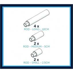 View the 8 pc Rod Selection pack display stand system online at Cake Stuff
