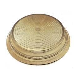"View the GOLD BRIGHT ROUND 14"" wedding cake stand base plinth online at Cake Stuff"