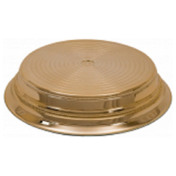"View the GOLD BRIGHT ROUND 16"" / 406mm wedding cake stand base plinth online at Cake Stuff"
