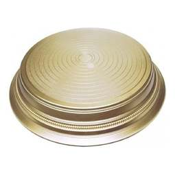 "View the GOLD SATIN / MATT ROUND 14"" wedding cake stand base plinth online at Cake Stuff"