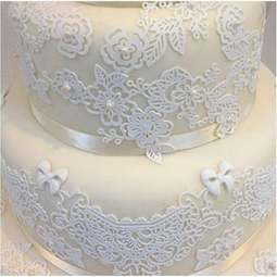 View the SWEET LACE cake / edible lace silicone tool mat online at Cake Stuff