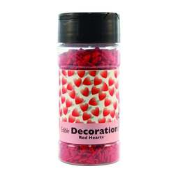 View the RED SUGAR HEARTS cupcake sprinkles 68g online at Cake Stuff