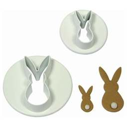 View the Bunny Rabbit 2 piece icing cutter set (small) online at Cake Stuff