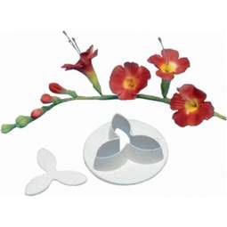 View the Freesia / Snowdrop flower icing cutter online at Cake Stuff