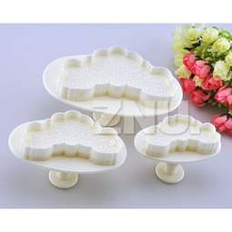 View the **PROMO** heart CLOUDS 3 piece plunger icing cutter set online at Cake Stuff