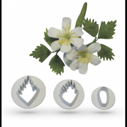 View the Wood Anemone 3 piece wild flower icing cutter set online at Cake Stuff