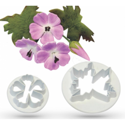 View the Meadow Cranesbill 2 pc wild flower icing cutter set online at Cake Stuff
