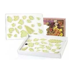 View the # 3 box set - sugar flower LEAF icing cutters - 40 piece online at Cake Stuff