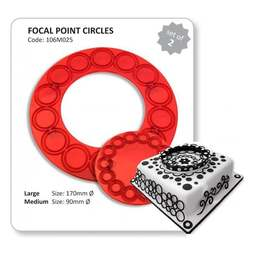 View the Focal Point Circles large & small 2 pc icing cutter set online at Cake Stuff