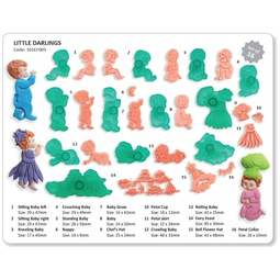 View the Little Darlings Baby & Children / Fairies 12 pc icing cutter set online at Cake Stuff