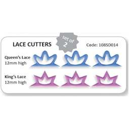 View the Lace Strip - King & Queen 2 pc icing cutter set online at Cake Stuff