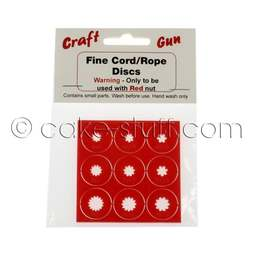 View the 9 NEW fine cord / rope discs add-on set for sugarcraft extruder gun online at Cake Stuff