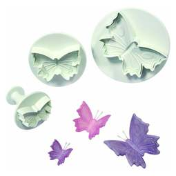 View the Butterfly 3 pc icing plunger & embosser cutter set online at Cake Stuff