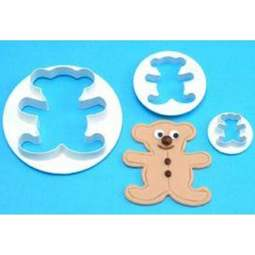 View the Teddy Bear 3 piece icing cutter set online at Cake Stuff
