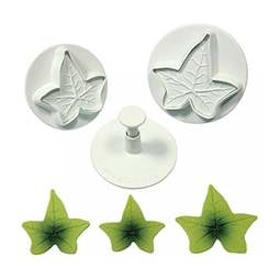 View the XL Ivy Leaf 3 pc icing plunger cutter set online at Cake Stuff