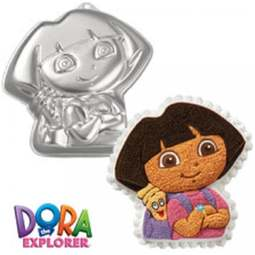 View the **CLEARANCE** Dora the Explorer (with backpack) cake tin / pan online at Cake Stuff