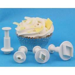 View the Mini Diamond 4 piece icing plunger cutter set online at Cake Stuff