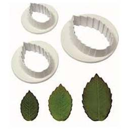 View the Rose Leaf 3 pc icing sugarcraft cutter set online at Cake Stuff