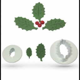 View the Holly Leaf 2 piece icing cutter set online at Cake Stuff