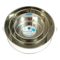 "View the set of 3: 6"" / 8"" / 10"" round professional cake tins online at Cake Stuff"
