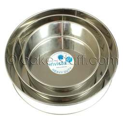 """View the set of 3: 8"""" / 10"""" / 12"""" round professional cake tins online at Cake Stuff"""