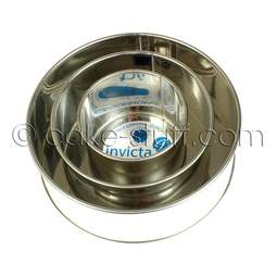 "View the set of 3: 4"" / 6"" / 8"" round professional cake tins online at Cake Stuff"
