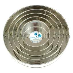 "View the set of 5: 6"" / 8"" / 10"" / 12"" / 14"" round professional cake tins online at Cake Stuff"