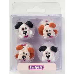 View the pk 12 DOGS / PUPPIES edible icing pipings cake cupcake decorations online at Cake Stuff