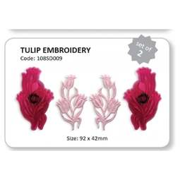 View the Tulip Embroidery cake side fondant icing cutter set online at Cake Stuff