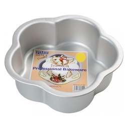 "View the 10"" / 25.5cm professional PETAL aluminium cake tin pan online at Cake Stuff"