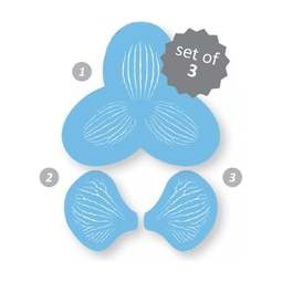 View the Orchid Throat Stripes 3 pc design icing stencil set online at Cake Stuff