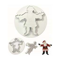 View the Santa Claus / Father Christmas 2 piece icing cutter & embosser set online at Cake Stuff