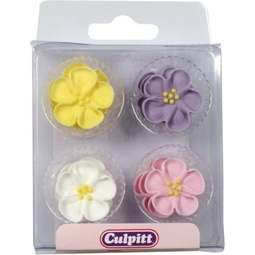 View the pk 12 ASSTD. WILD ROSE edible icing pipings cake cupcake decorations online at Cake Stuff