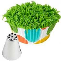 View the 133 / 233 piping nozzle icing tube tip - grass, hair, multi line online at Cake Stuff