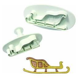 View the Santa's Sleigh 2 piece plunger icing cutter set online at Cake Stuff