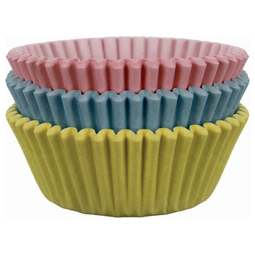 View the PASTEL COLOURS cupcake baking cases - pk 60 online at Cake Stuff