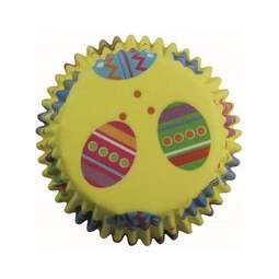 View the COLOURFUL EASTER EGGS cupcake baking cases - pk 60 online at Cake Stuff