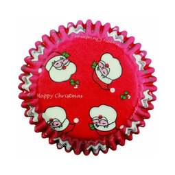 View the CHRISTMAS SANTA cupcake baking cases - pk 60 online at Cake Stuff