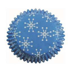 View the SNOWFLAKES mini cupcake baking cases - pk 100 online at Cake Stuff
